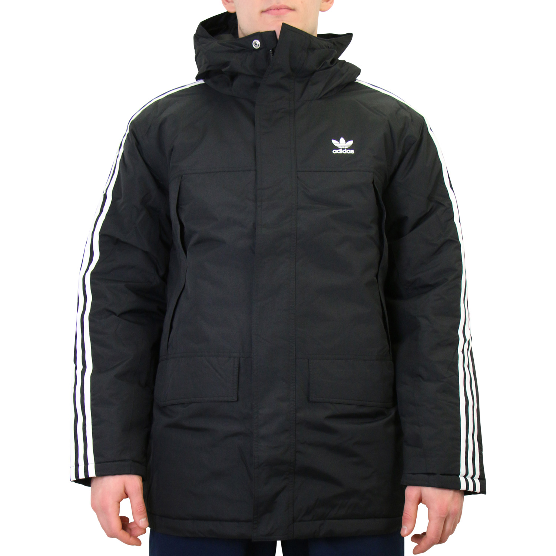 Adidas Herren Winter Jacke Mantel Parka Stadion Padded