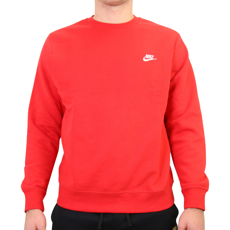 Détails sur Nike Sportswear Club Sweatshirt Pull Rouge bv2662 657 afficher le titre d'origine